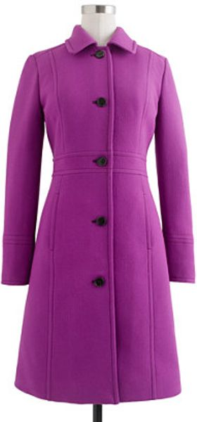 J.crew Doublecloth Lady Day Coat with Thinsulate in Purple (fresh plum) - Lyst