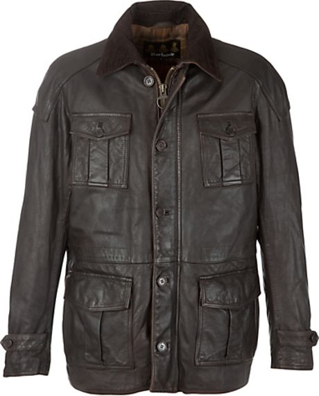 Barbour Barbour Load Leather Jacket Brown in Brown for Men