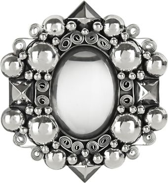 Bottega Veneta Antiqued Sterling Silver Rock Crystal Brooch - Lyst