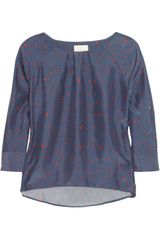 Boy by Band Of Outsiders Ladybugprint Silk Top