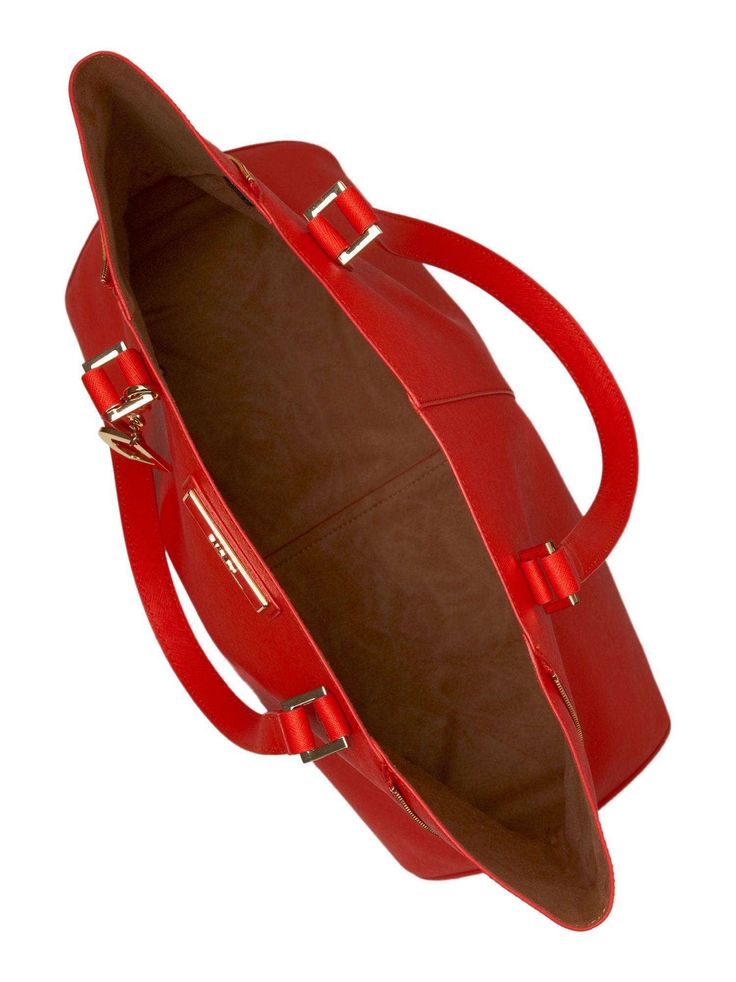 DKNY Saffiano Large Tote Bag in Orange