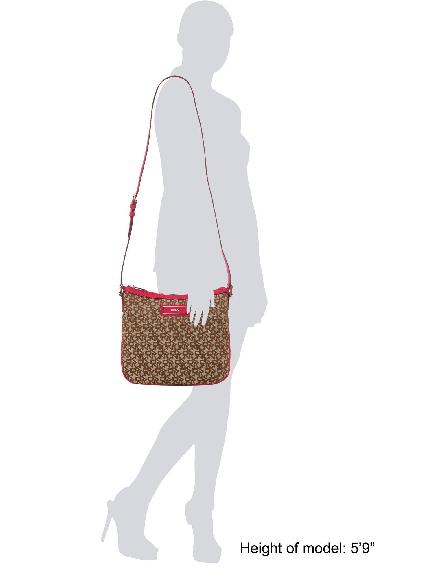 DKNY Saffiano Crossbody Bag in Pink