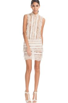 Elie Saab Vanilla Lace Mini Dress - Lyst