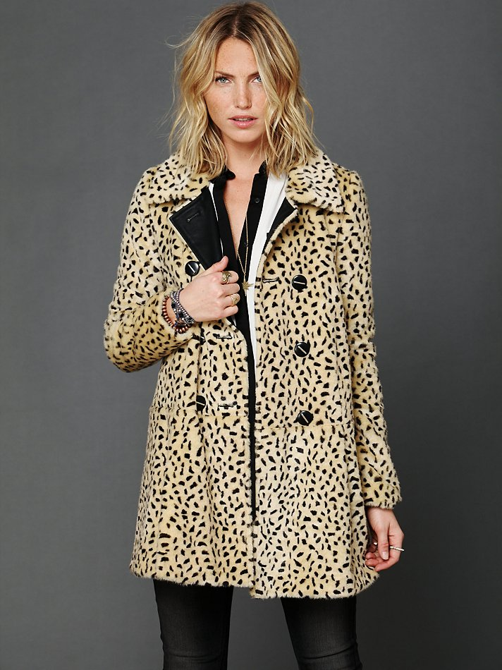 Free People Leopard Swing Coat In Natural Lyst
