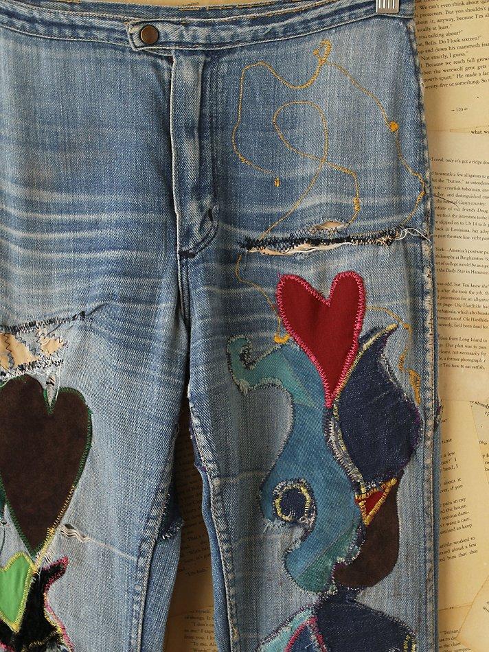 Lyst Free People Vintage Wrangler Patchwork Jeans In Blue