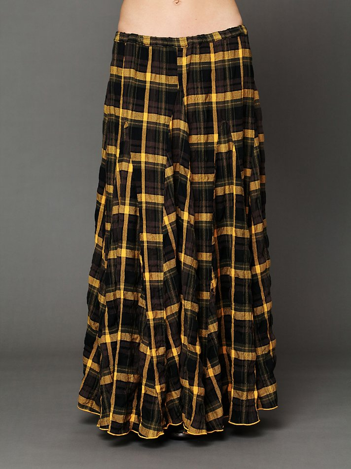Image Of Tov Flannel Bouncy Maxi Skirt