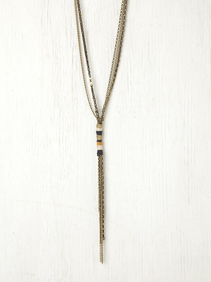 Free People Wrapped Thread Chain Necklace Lyst