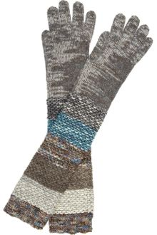 Missoni Long Chunkyknit Gloves - Lyst