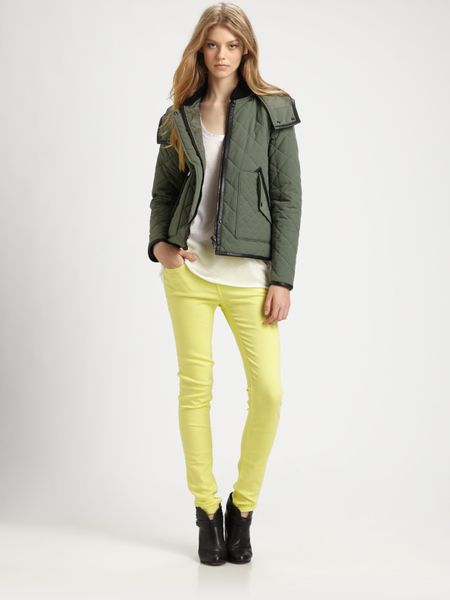 Rag & Bone Wynn Quilted Jacket in Green (army) - Lyst