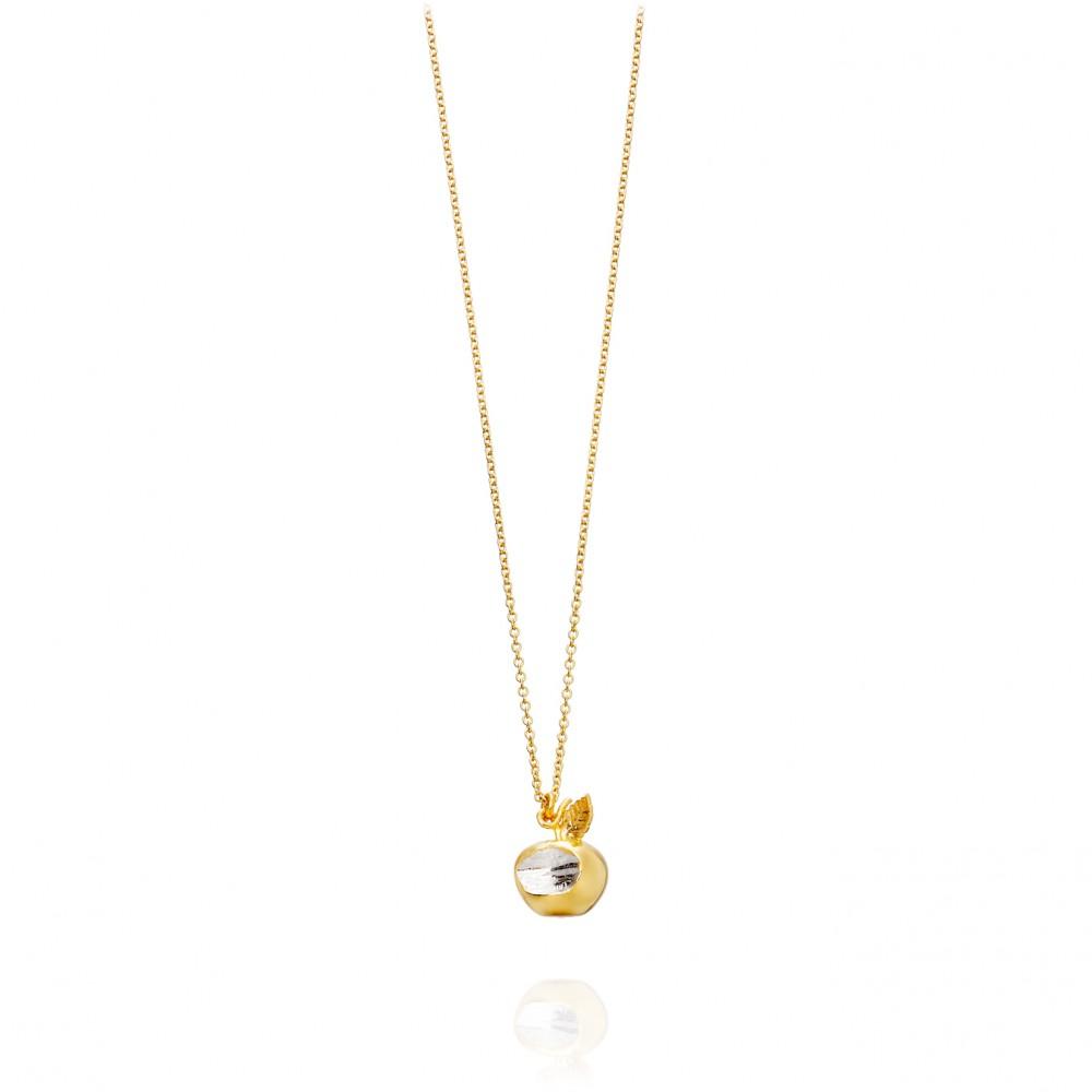 Lyst Alex Monroe Apple Bite Necklace in Metallic