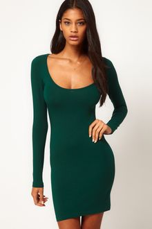 ASOS Collection Asos Mini Bodycon Dress with Long Sleeves - Lyst
