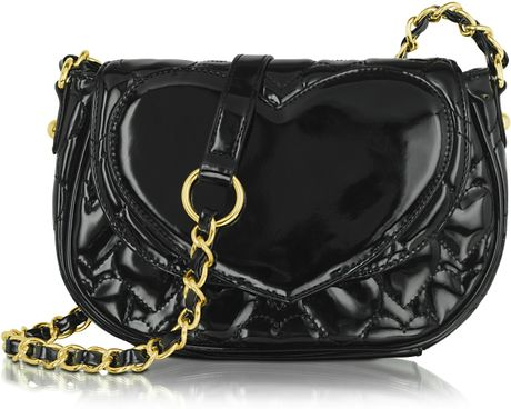 Betsey Johnson Mine Yours Quilted Patent Eco Leather