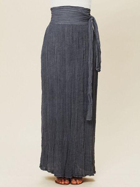 jen s pirate spinner maxi skirt in gray lyst