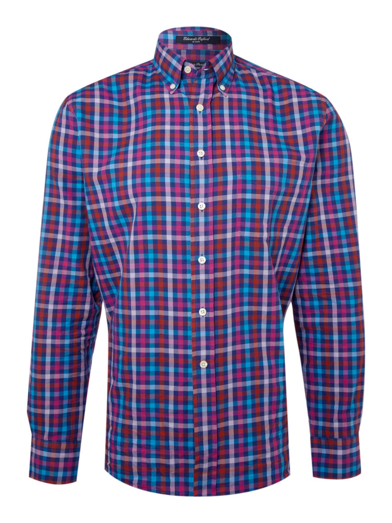 Mens Purple Multi Coloured T Shirt