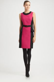 Milly Olivia Belted Peplum Dress - Lyst