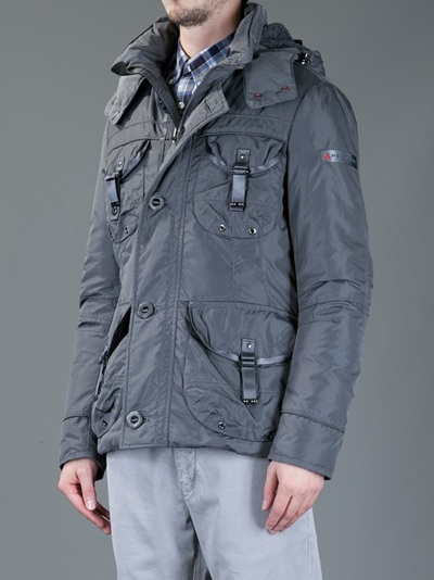 separation shoes 19d19 36c11 Peuterey Miro Jacket in Grey (Gray) for Men - Lyst