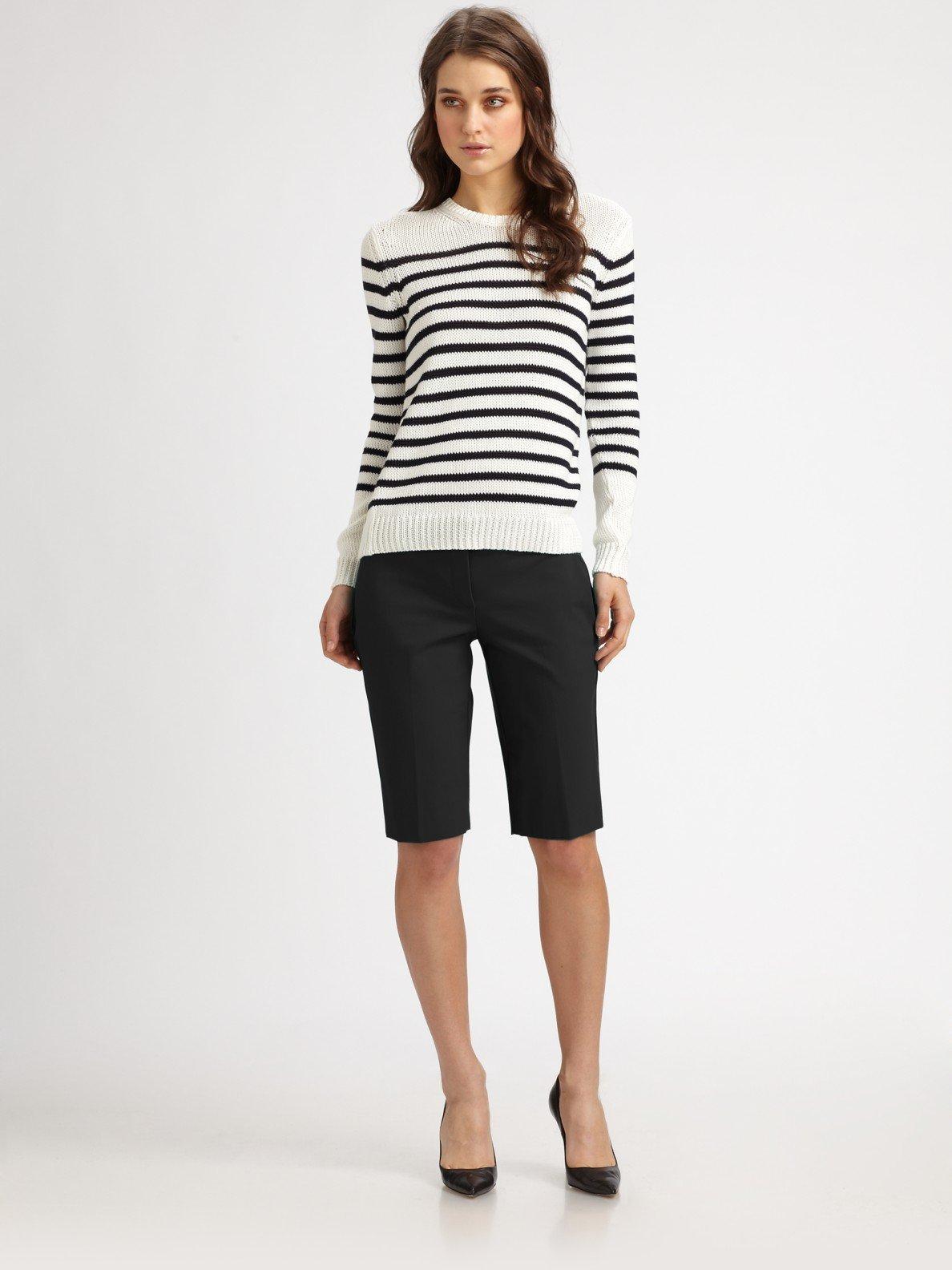 Lyst Theory Palmer Bermuda Shorts In Black