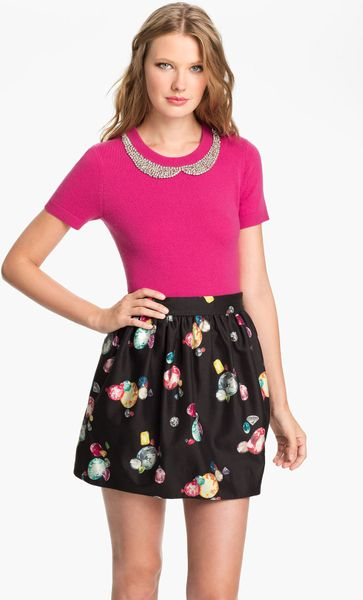 Kate Spade Tippy Embellished Sweater In Pink Vivid