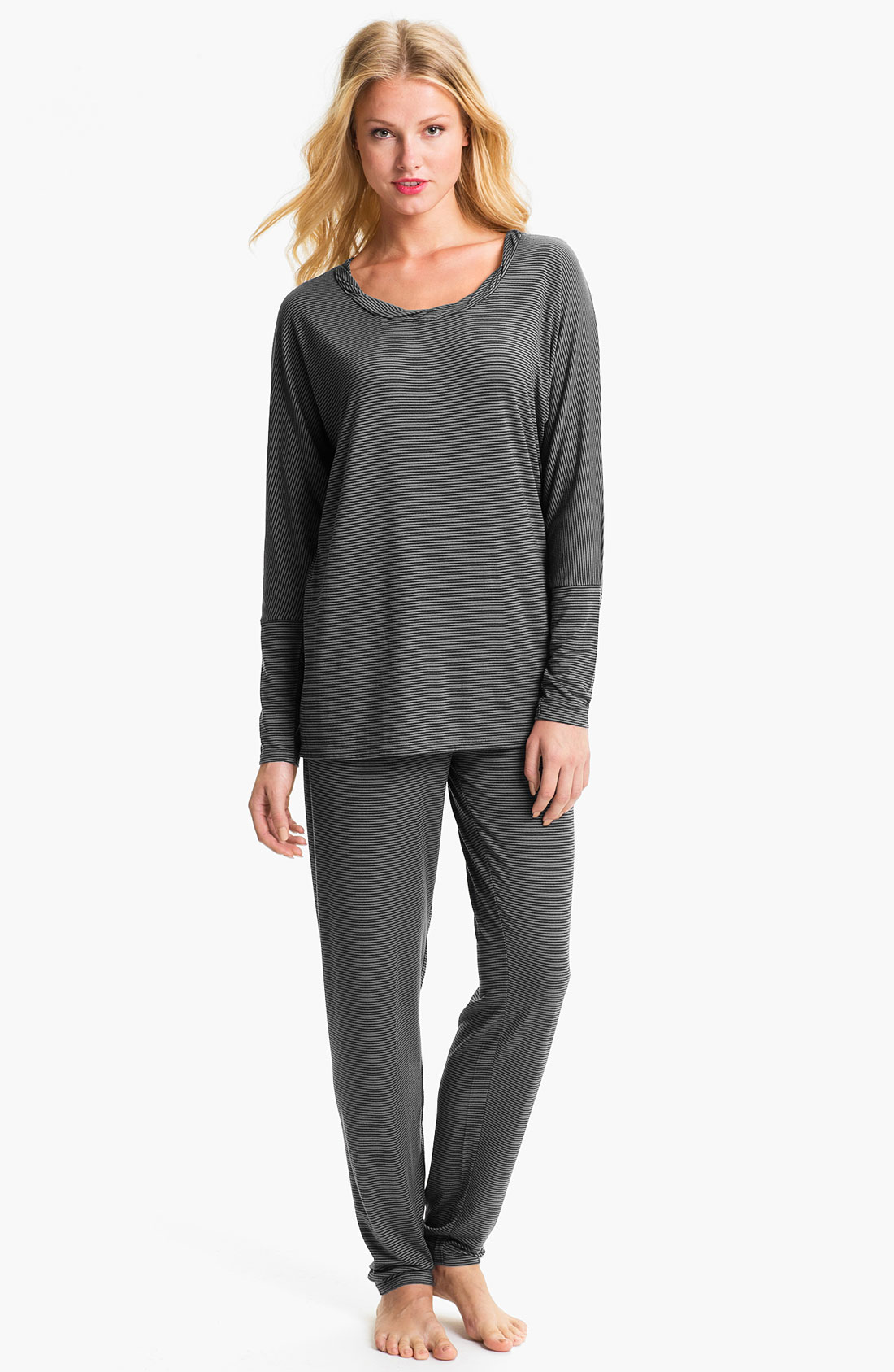 Midnight By Carole Hochman Modern Comfort Pajamas in Gray ...