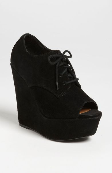 Steve Madden Windup Wedge in Black (black suede) - Lyst