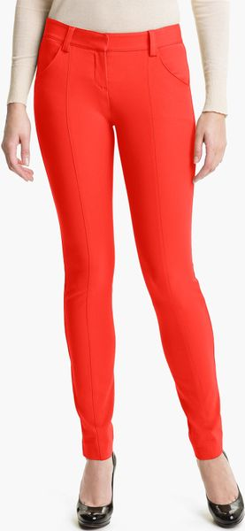 Theory Ardena Skinny Pants in Red (vermillion)