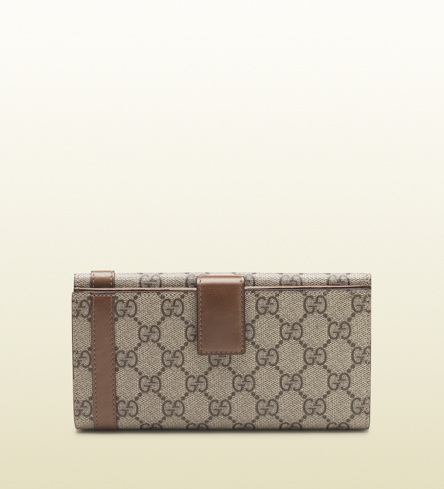 3418a68f9 Gucci Nice Gg Supreme Canvas Continental Wallet in Natural - Lyst
