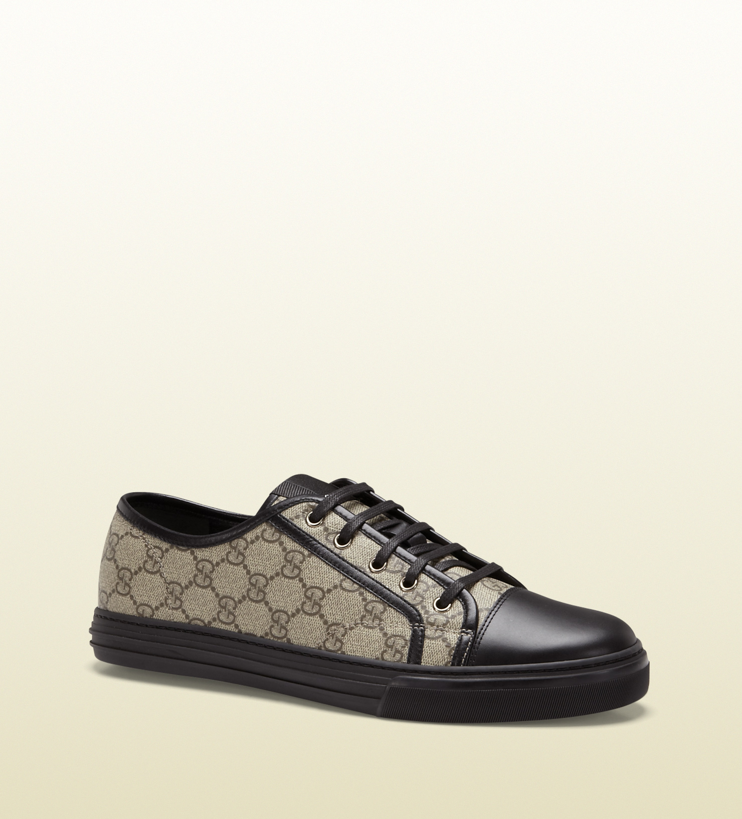 Lyst Gucci Gg Supreme Canvas Lowtop Sneaker In Black For Men