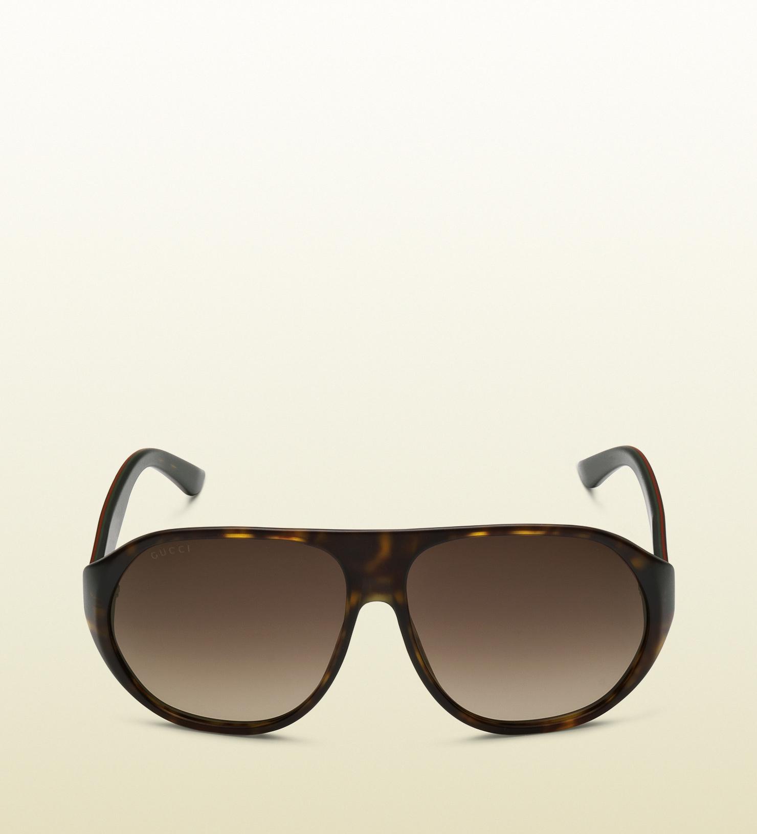 783617645e237 Gucci Mens Web Effect Sport Sunglasses in Black for Men - Lyst