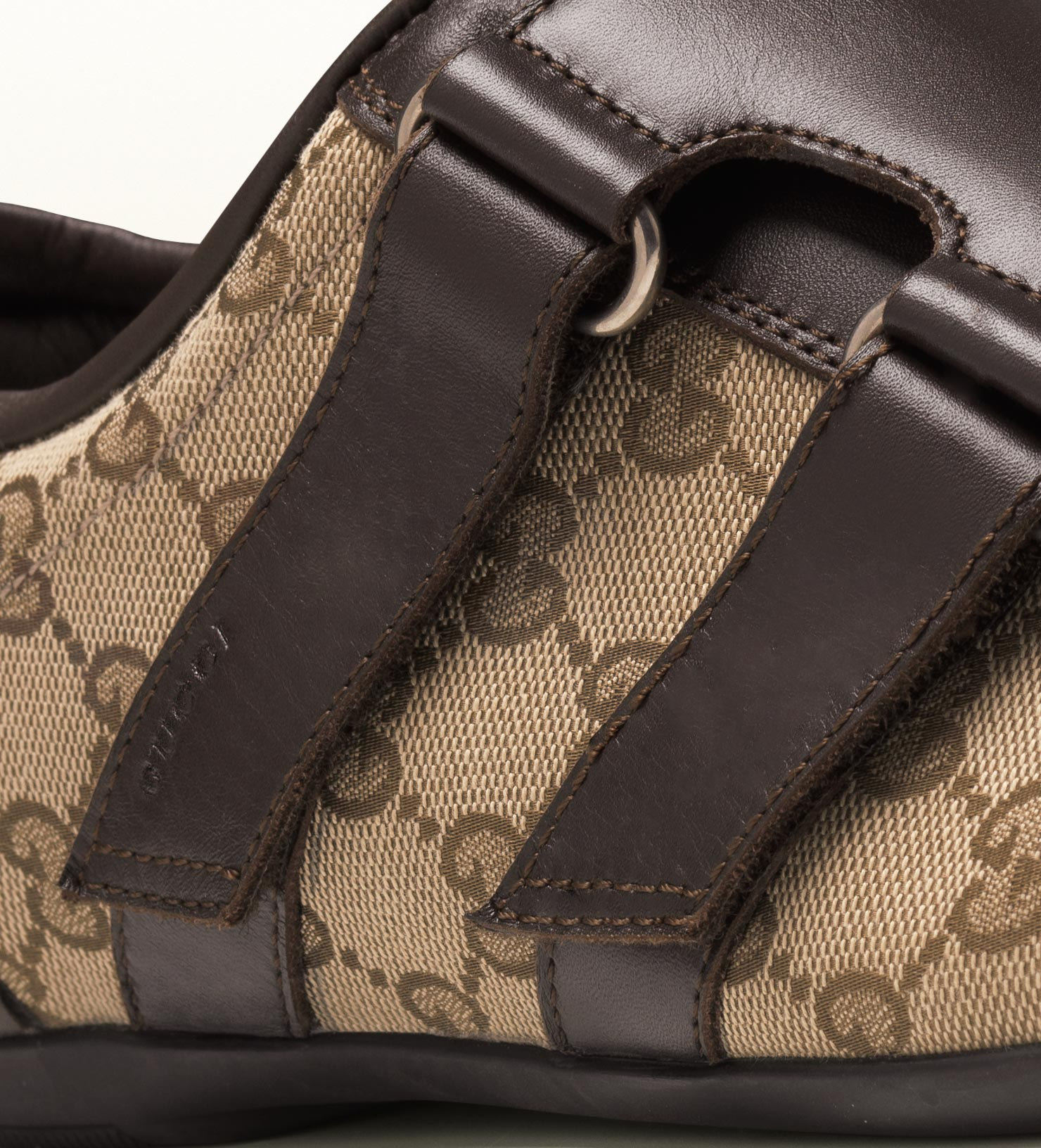 Gucci Brown Leather Velcro Shoe In Brown For Men Lyst