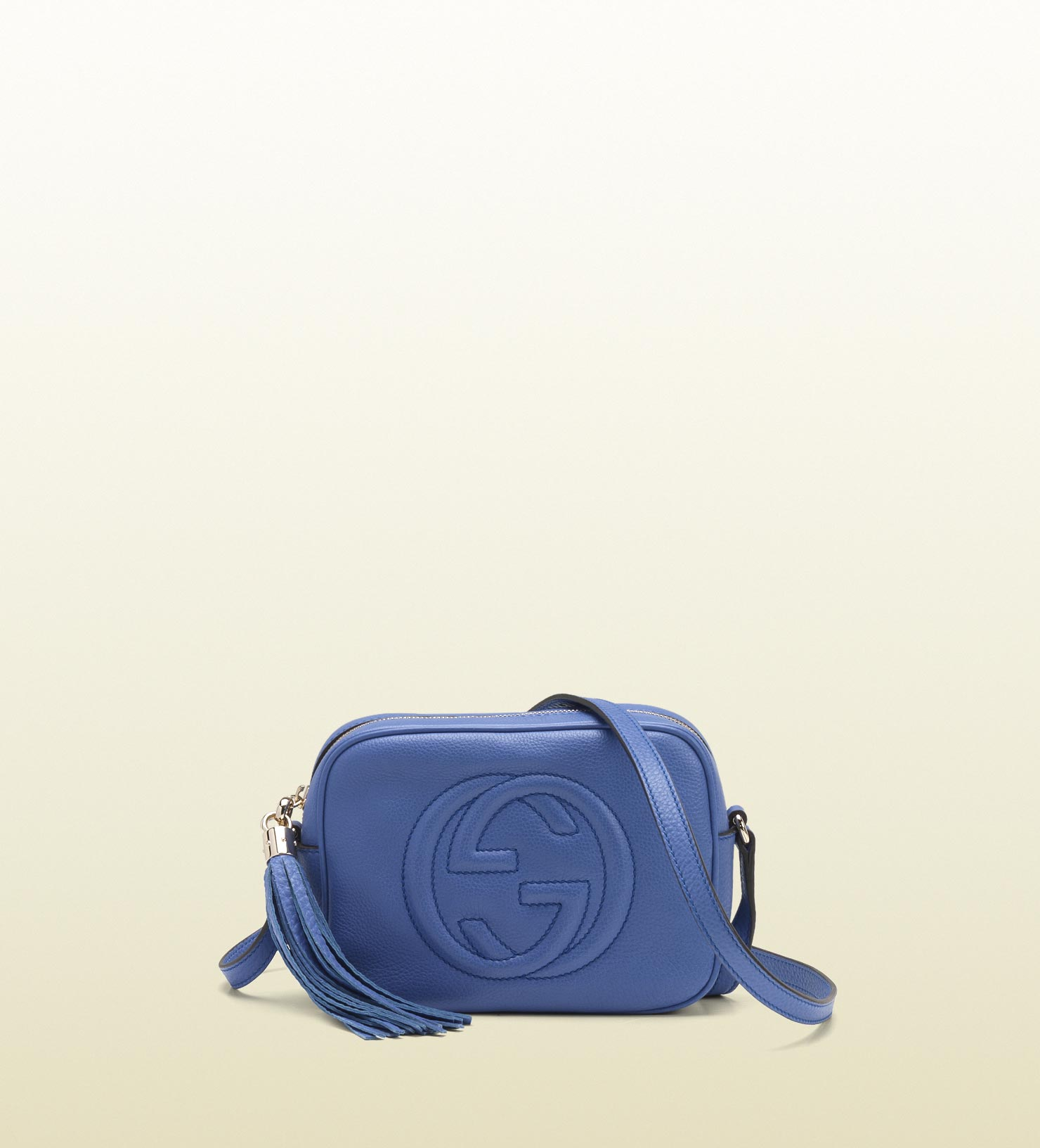 eac51c377600 Lyst - Gucci Soho Periwinkle Leather Disco Bag in Blue