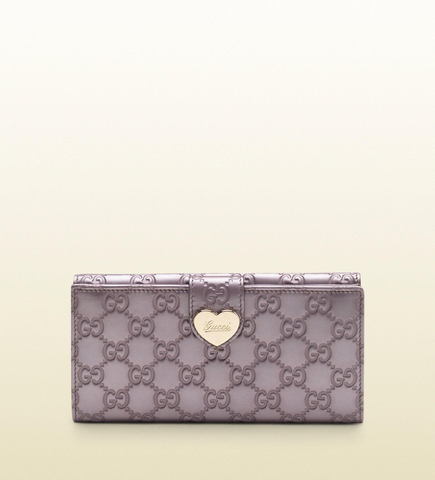 f436ff45412d Gucci Lilac Metallic Guccissima Leather Continental Wallet in Purple ...