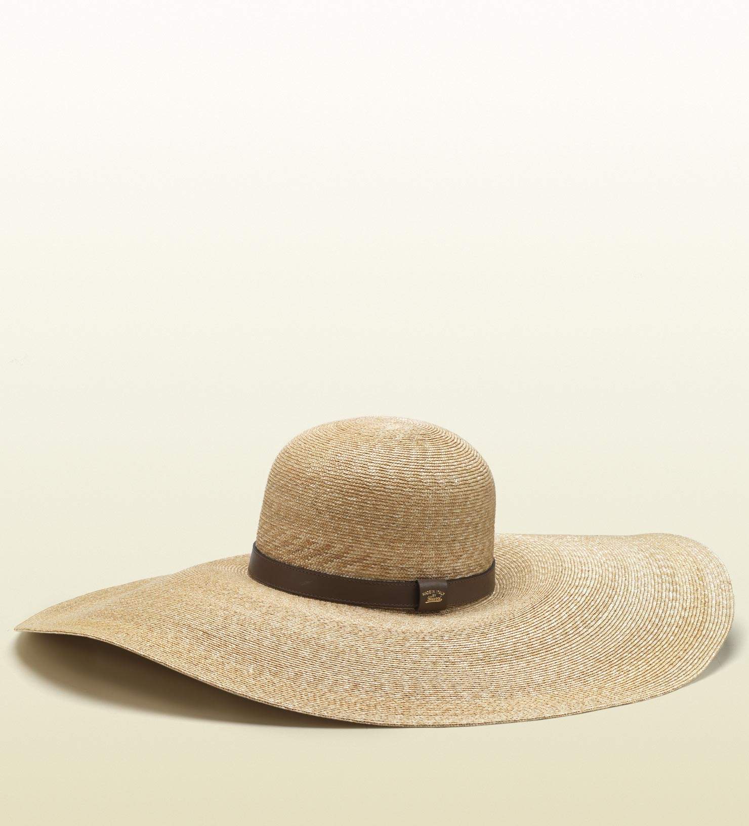 c61273d90d44f Gucci Natural Straw Wide Brim Hat in Natural - Lyst