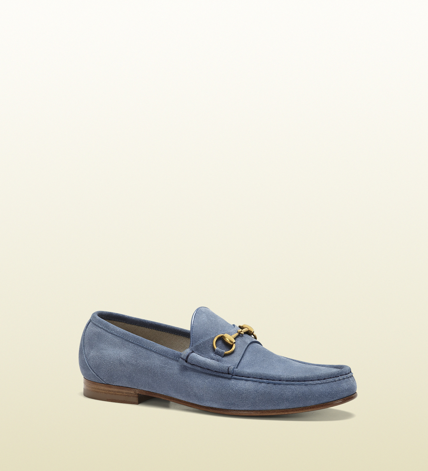652466546 Gucci 1953 Horsebit Loafer In Suede in Blue for Men - Lyst