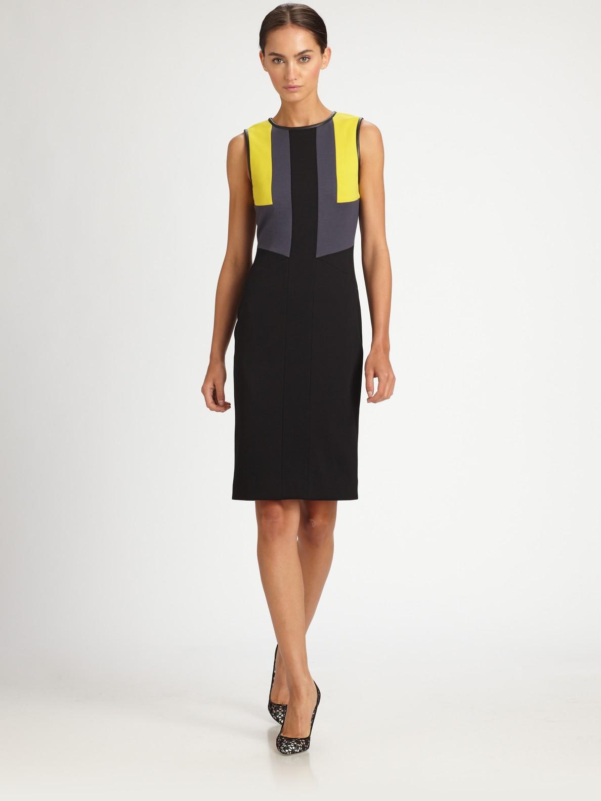 Jason wu colorblock jersey dress in gray black lyst for Jason wu fashion designer