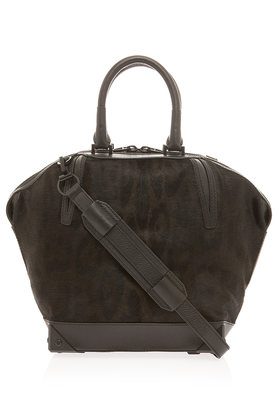 Alexander wang emile small soil leopard bag in brown lyst for Bags of topsoil