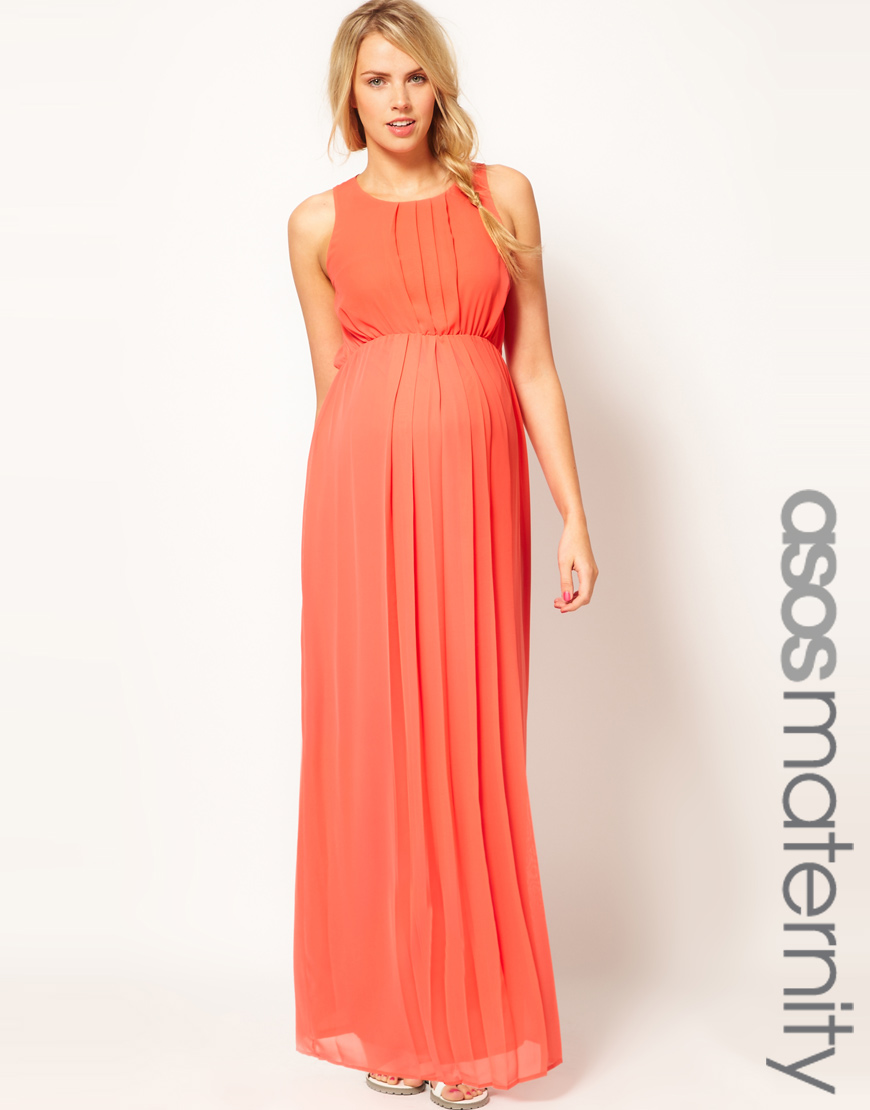 Asos Maxi Dress In Pink Lyst