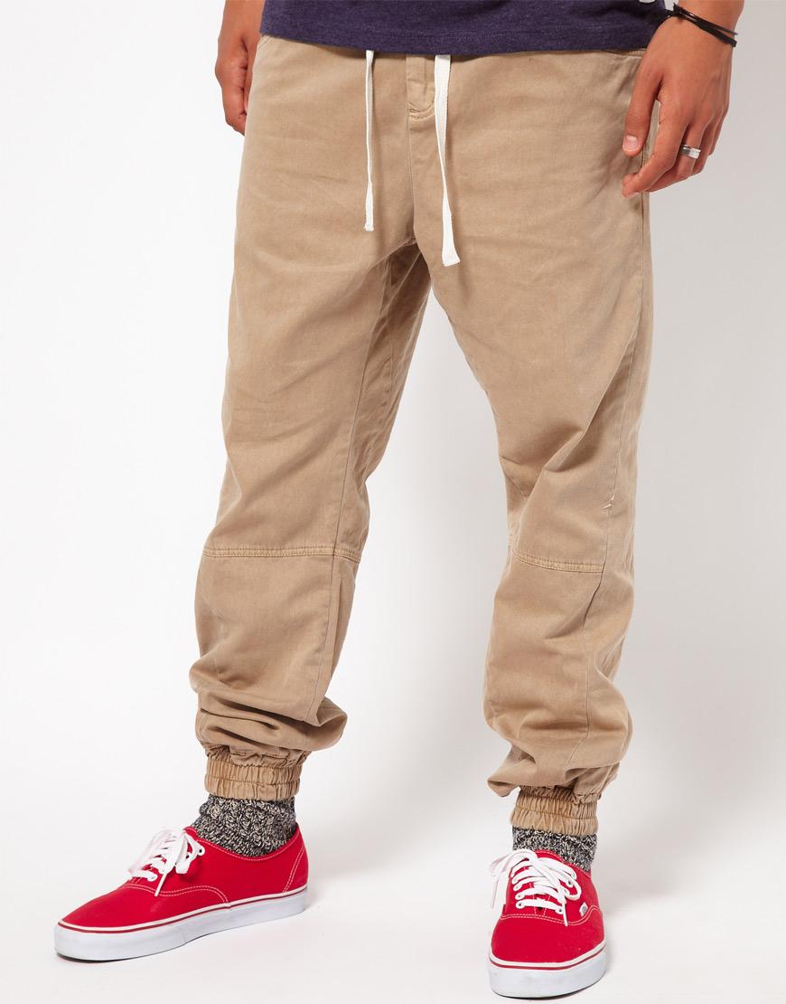 Dark brown casual chinos - Trousers - E-shop | alaindelon