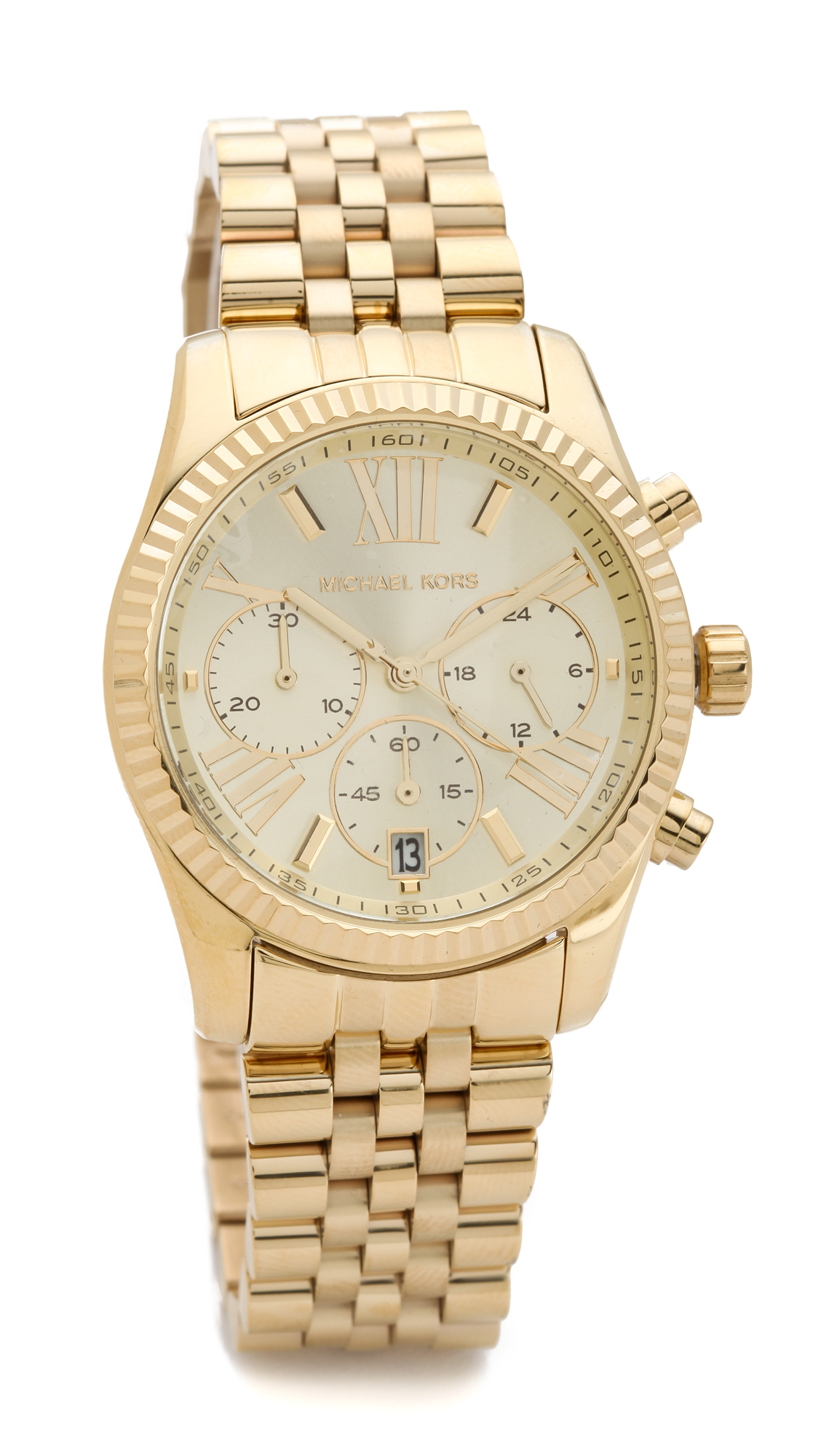 michael kors lexington watch gold in gold lyst