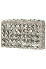 Topshop Diamante Silver Box Clutch