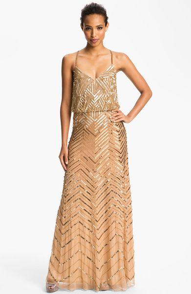 Reception dress weddingbee for Gold beaded wedding dress