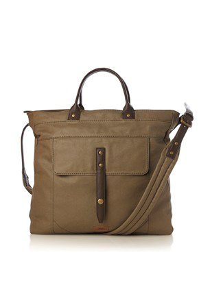 French Connection Super Stitch Canvas Tote in Brown for Men