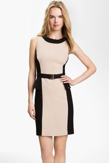 Milly Olivia Belted Sheath Dress - Lyst