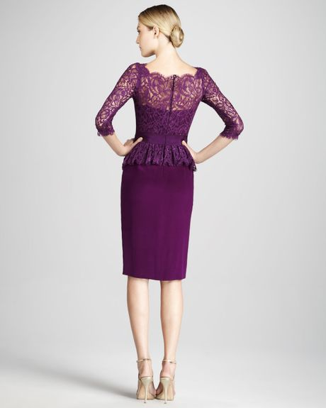 cocktail dresses notte by marchesa dresses notte by marchesa purple    Purple Cocktail Dresses With Sleeves