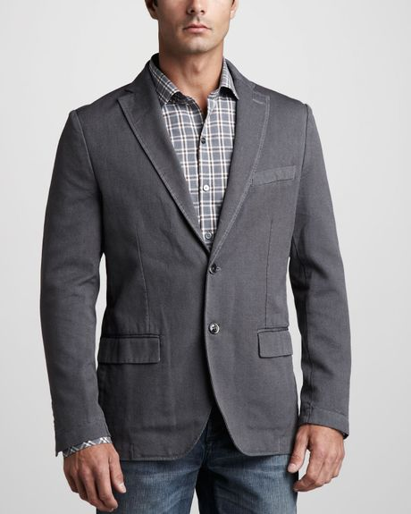 Zachary Prell Waverly Unstructured Sport Coat In Gray For