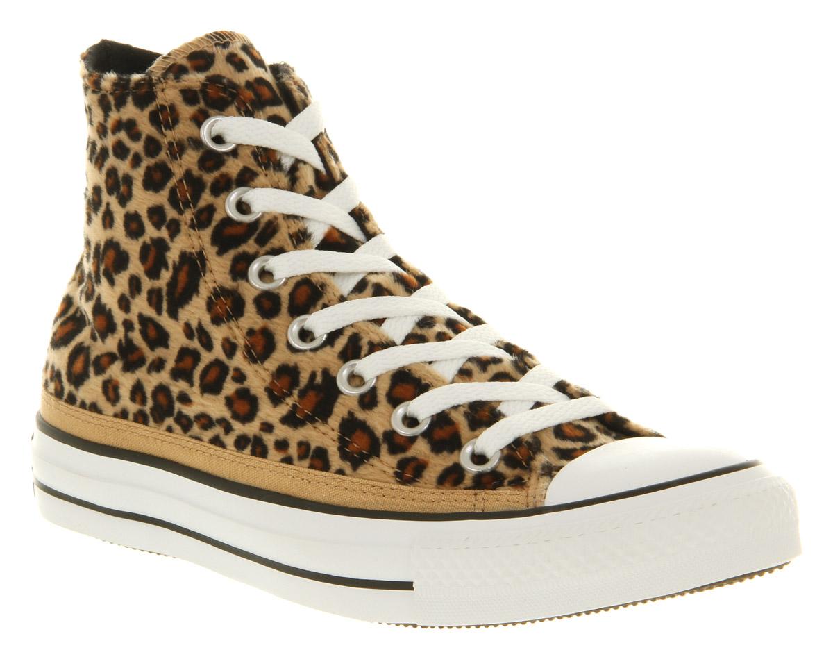 d8239ed2778cc7 Lyst - Converse All Star Hi Leopard Print Faux Fur Smu for Men