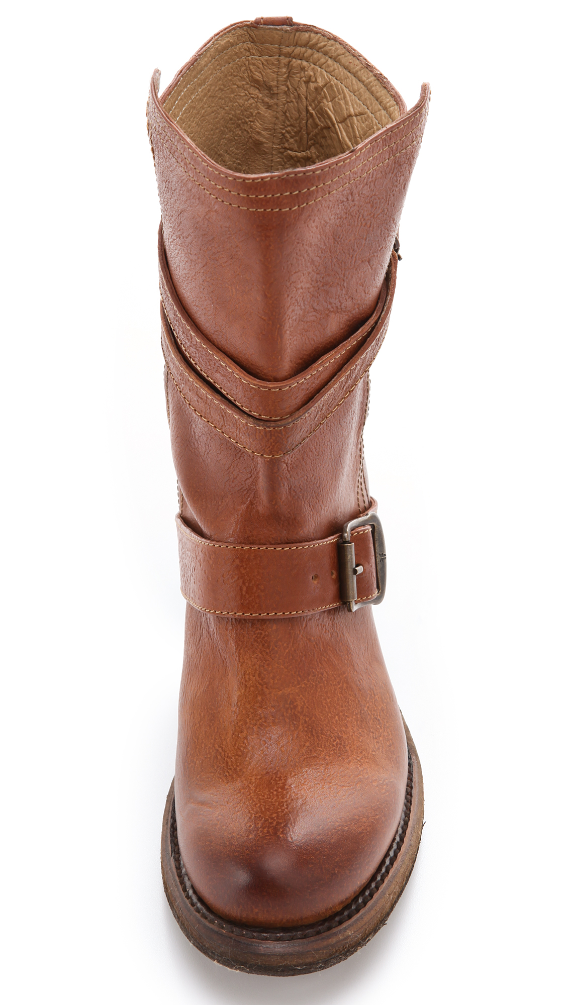 Frye Vera Strappy Boots In Tan Brown Lyst