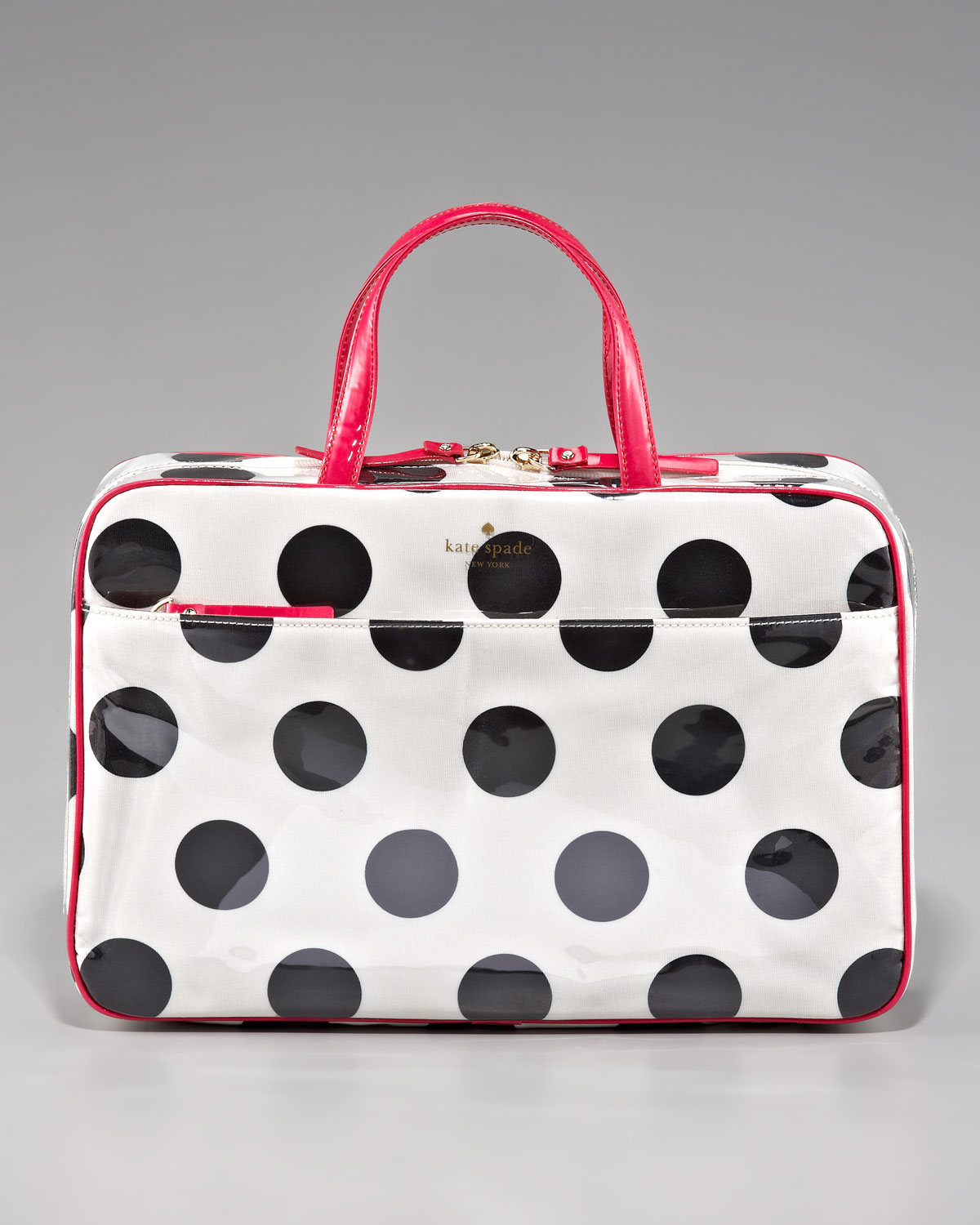 bfae8428e130 Lyst - Kate Spade Polkadot Manuela Cosmetic Case in Black