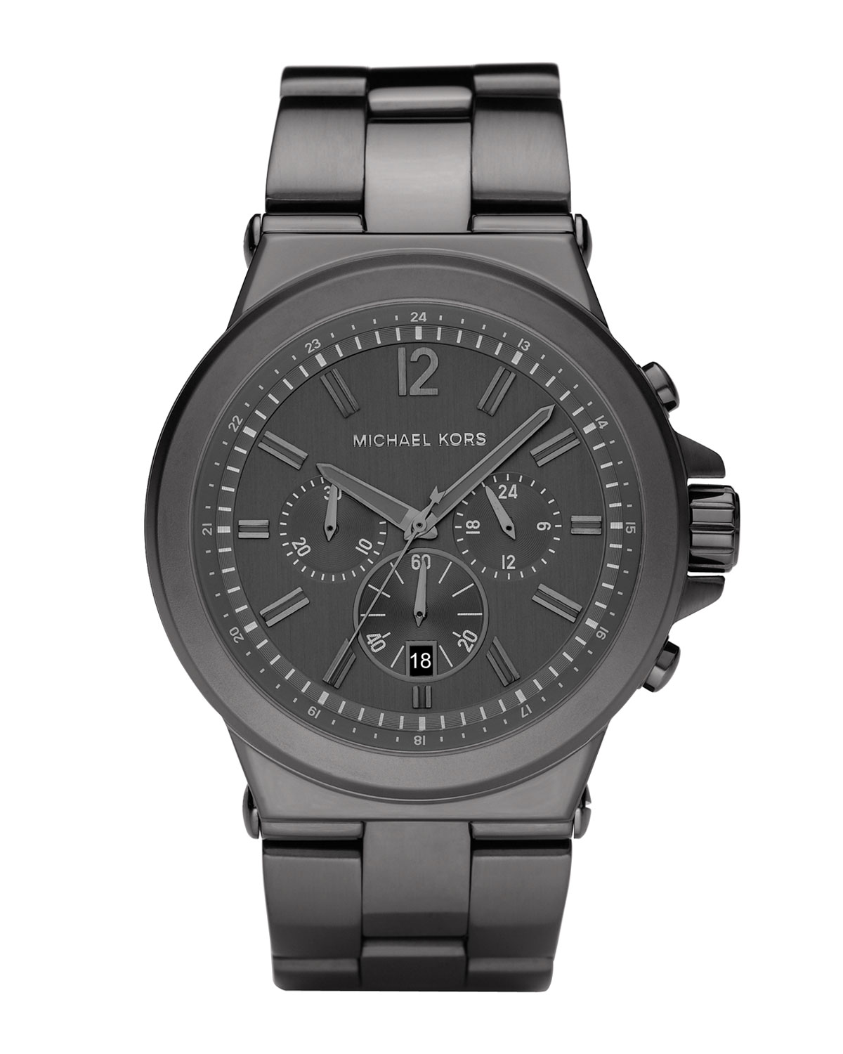 michael kors mens dylan chronograph watch gunmetal in gray for men gallery previously at neiman marcus · men s michael kors chronograph