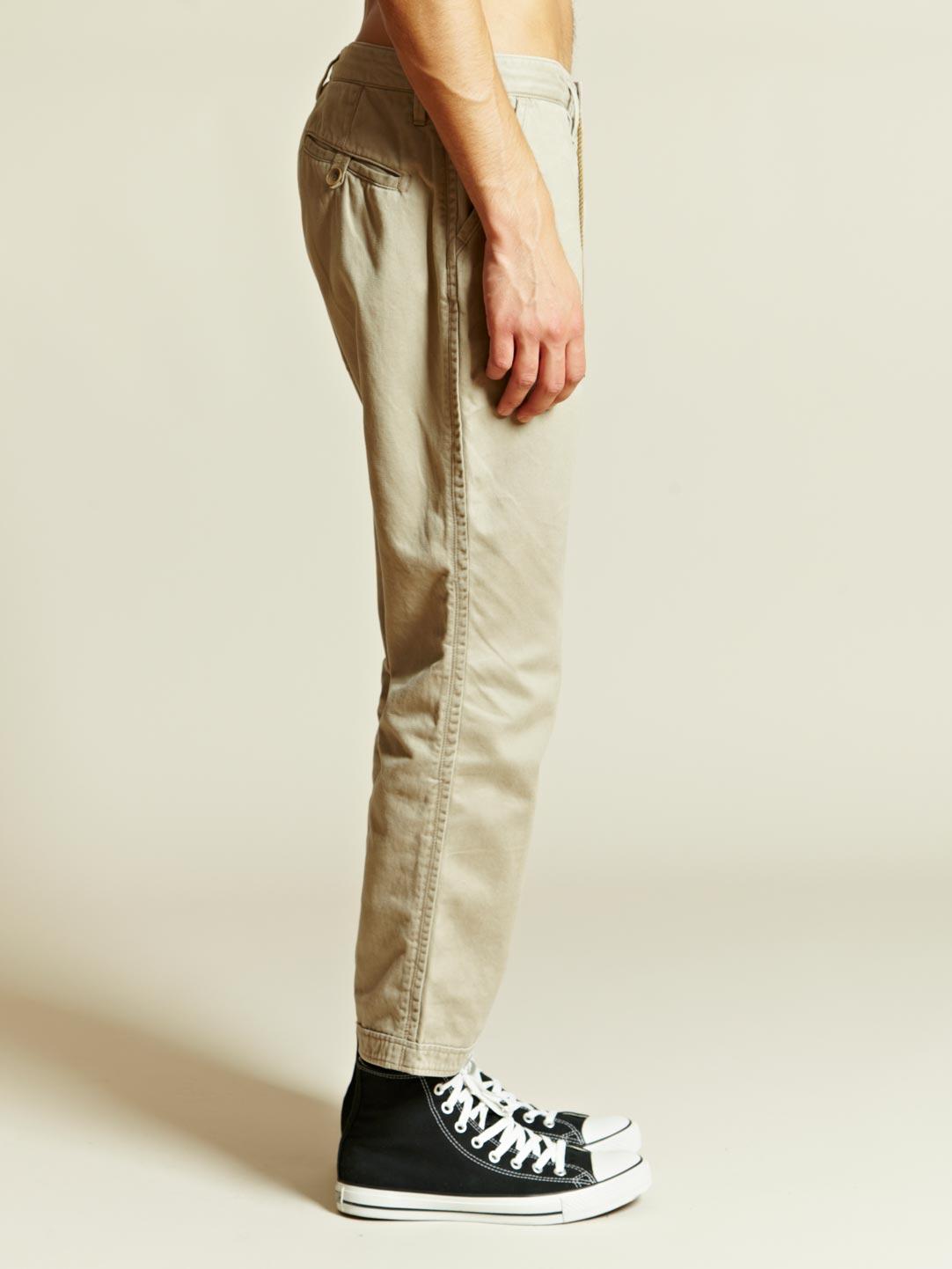 Nonnative Nonnative Mens Dweller Ankle Cut Pants In Natural For Men | Lyst