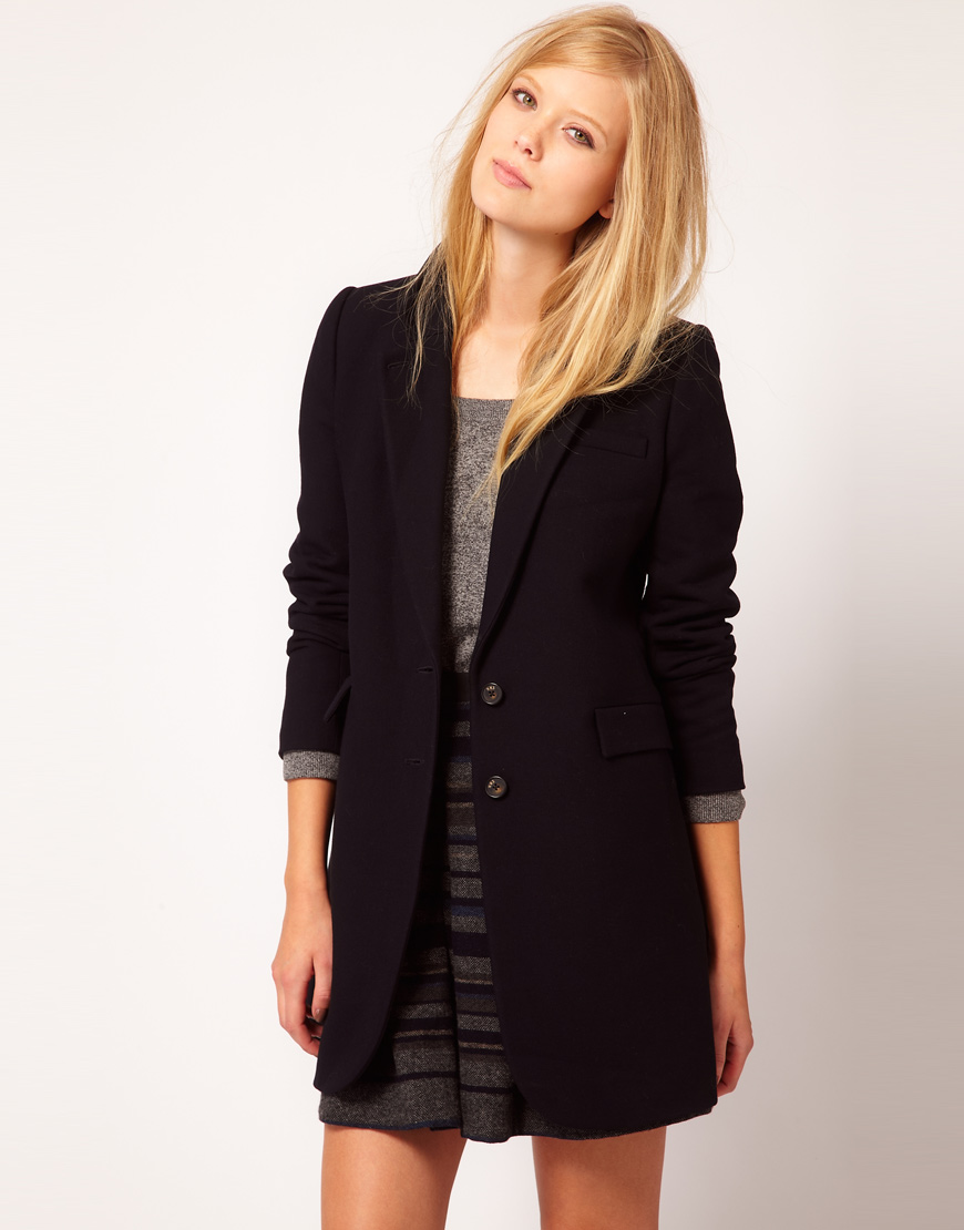 Nw3 by hobbs Nw3 Oak Tailored Coat in Black | Lyst